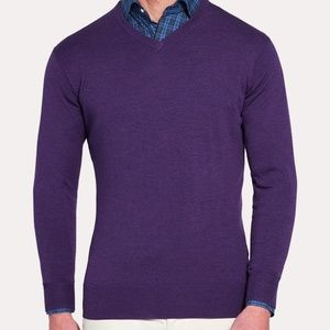 Peter Millar NWT Crown Soft v-neck purple